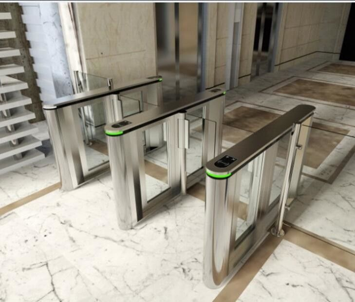 Stainless Steel Triangle Entrance Swing Pedestrian Barrier Gate Machine For Subway Station