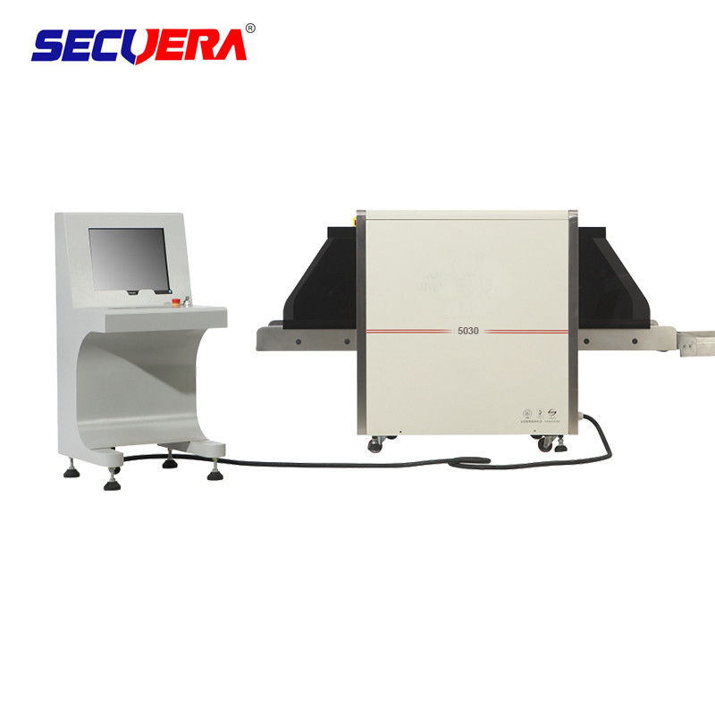 Double Vision Angles X Ray Baggage Scanner , Bag Scanning Machine With Protective Cover airport security baggage scanner